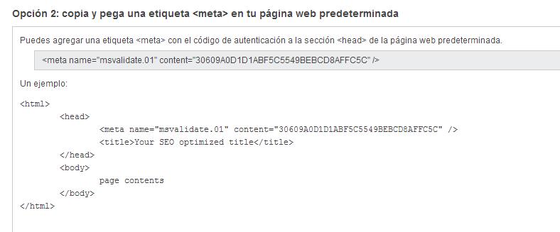 Comprobar la propiedad de www.josecunat.com Herramientas para administradores de web de Bing