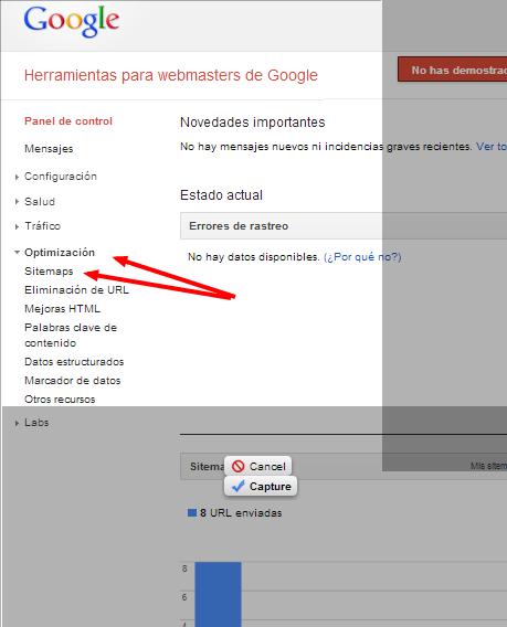 Herramientas para webmasters de Google Panel de control http www.josecunat.com