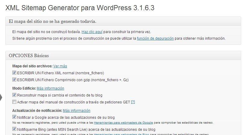 xml sitemap generator para wordpress