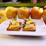 Tosta de crema de manzana Val Venosta con jamón serrano